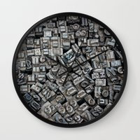 letters Wall Clocks featuring Letters, Letters, Letters by Ehud Neuhaus