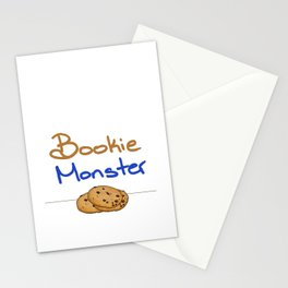 Bookie Monster 2 Stationery Cards