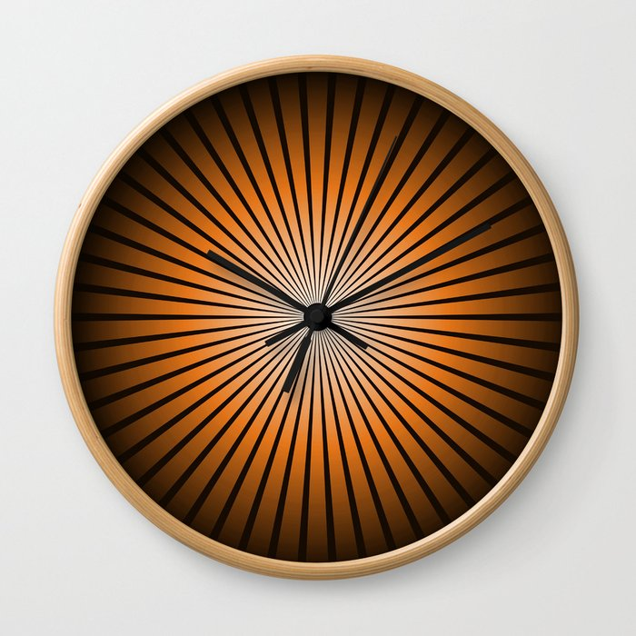 Star Brown Wall Clock
