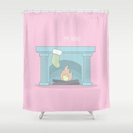 Hung #kawaii #christmas Shower Curtain