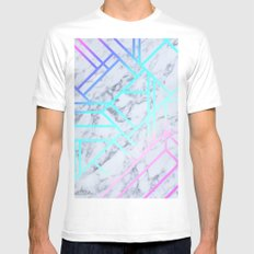 Marbled 1 MEDIUM Mens Fitted Tee White