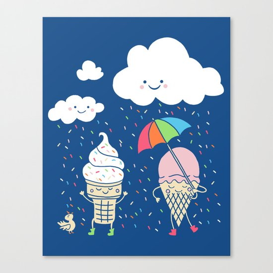 Cloudy With A Chance of Sprinkles Canvas Print