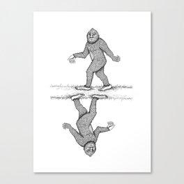Sad-squatch Canvas Print