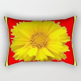 DECORATIVE RED COREOPSIS MODERN ART Rectangular Pillow