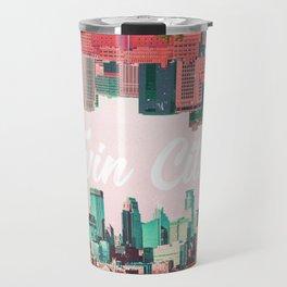 Twin Cities Minneapolis and Saint Paul Minnesota Collage Travel Mug