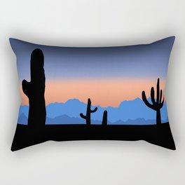 Orange Desert Sunset Rectangular Pillow