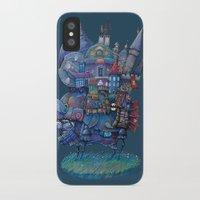fandom iPhone & iPod Cases featuring Fandom Moving Castle by nokeek