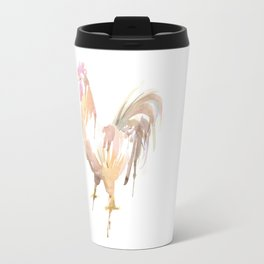 Chicken Watercolor Travel Mug