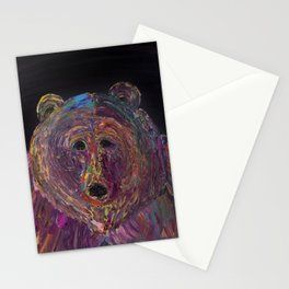 Grizzly Stare Stationery Cards