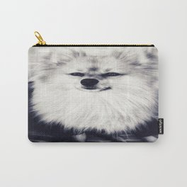 Black and White Pomeranian Carry-All Pouch