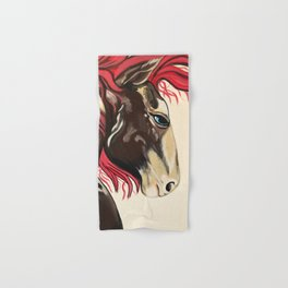 Cinnamon Horse by Noelles's Art Loft Hand & Bath Towel