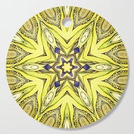 Yellow mandala Cutting Board