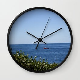 The Red Boat Wall Clock
