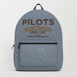 Pilot Proud Aviation Lover Gift Idea Backpack