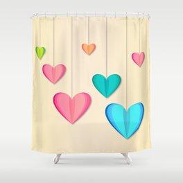 Hangin Hearts Shower Curtain