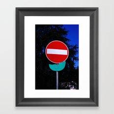 Road Flower Framed Art Print