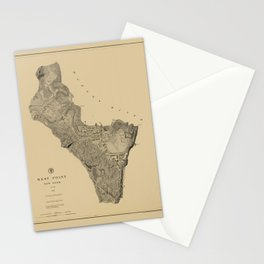 Map of West Point 1883 Stationery Cards