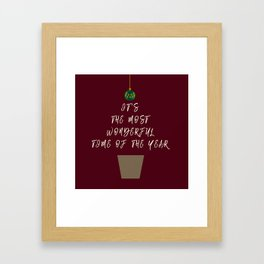 Christmas - The Best Time Of The Year Framed Art Print