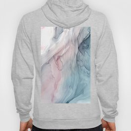Calming Pastel Flow- Blush, grey and blue Hoody