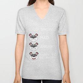 Funny Mood Swing T Shirt Design MOOD SWINGS Unisex V-Neck