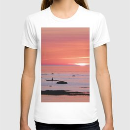 Kayaker and Bird at Last Light T-shirt