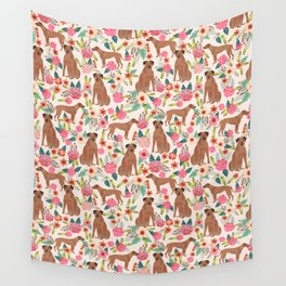 Rhodesian Ridgeback floral dog breed gifts pure breed must have dog pattern Wall Tapestry
