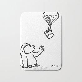 Ape Gets Book via Parachute Bath Mat