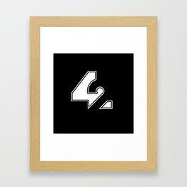 42 - Forty Two 2 Framed Art Print