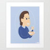 seinfeld Art Prints featuring Jerry Seinfeld by gregmsna