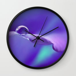 Water drops 19 Wall Clock