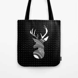 Black and White Deer Abstract Design Tote Bag