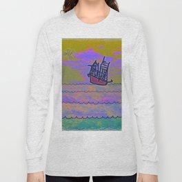 Tribal Ship Following The Star Long Sleeve T-shirt