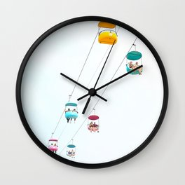Santa Cruz Gondolas Wall Clock