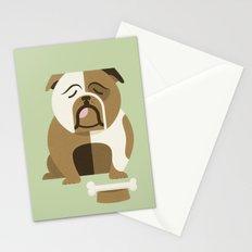 Bulldog - Green Variant Stationery Cards