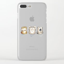See no, Hear no, Speak no Evil ! Clear iPhone Case