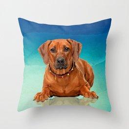 Rhodesian Ridgeback  Puppy Throw Pillow