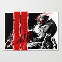 garrus Canvas Prints featuring Garrus Valkarian by rubyreid