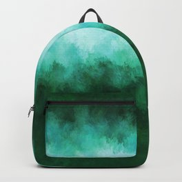 Green Forest Abstract Backpack