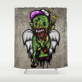 Zombie Valentine Shower Curtain