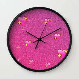 Flossy Emoji Wall Clock