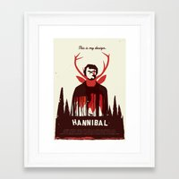 hannibal Framed Art Prints featuring Hannibal by Risa Rodil
