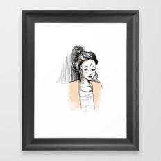 Frenchy Girl Framed Art Print