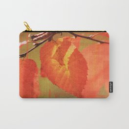 Shadowed Orange/Red Leaf Carry-All Pouch