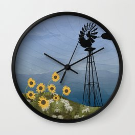 Wind Pump American Style Windmill Wall Clock