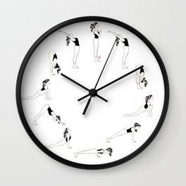 Sun Salutation - Surya Namaskar Wall Clock