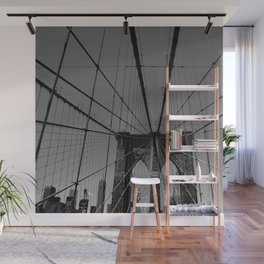 Spider web in New York Wall Mural