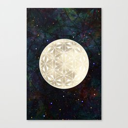 The Flower of Life Moon 2 Canvas Print