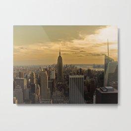 Sunset in New York Metal Print