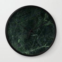 Dark Green Marble Wall Clock