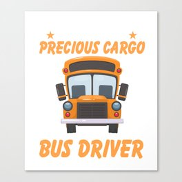 Costume For Bus Driver. Gift For Dad Canvas Print
